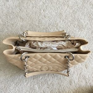 CHANEL Bags - Chanel Caviar Grand Shopping Tote in Beige Blush